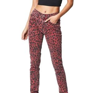 NEW WITH TAGS Carmar Red Leopard Skinny Ryan Jeans